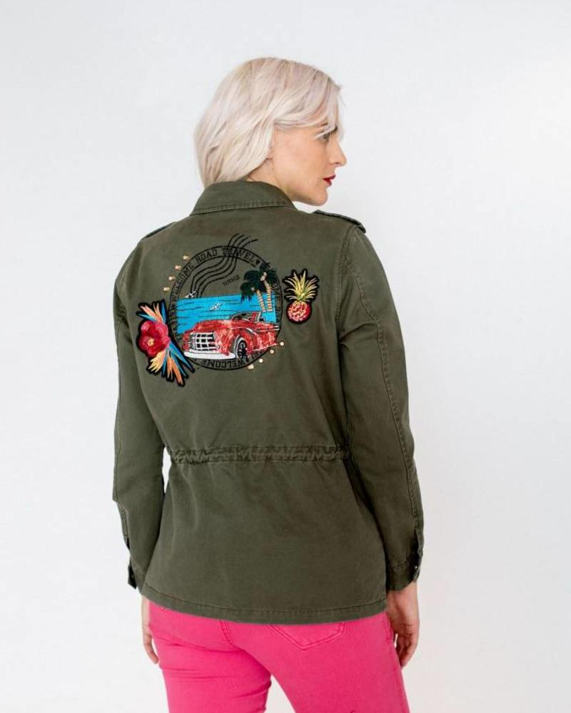 October jacket army green/patch