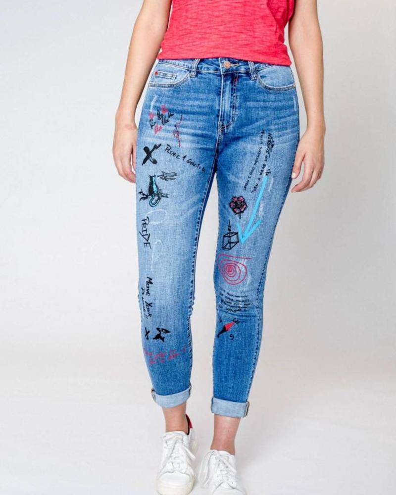 October jeans graffiti