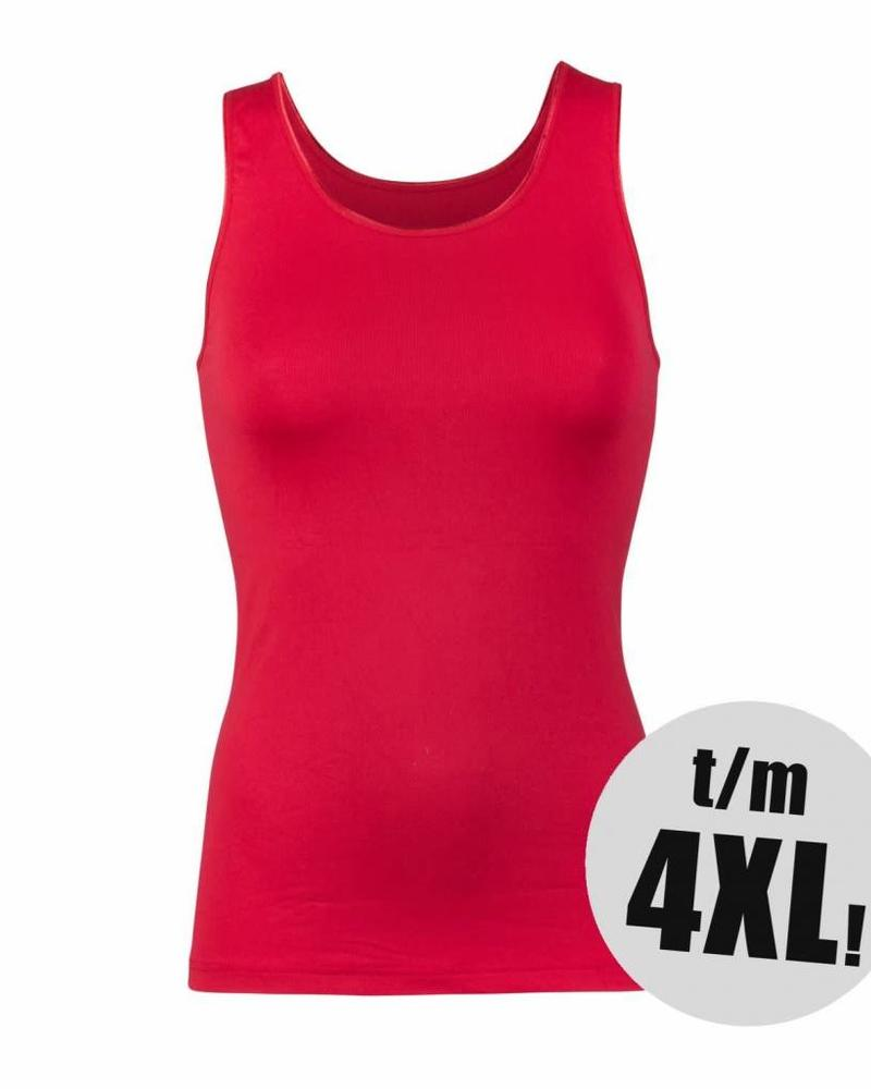 RJ Bodywear singlet pure color donkerrood