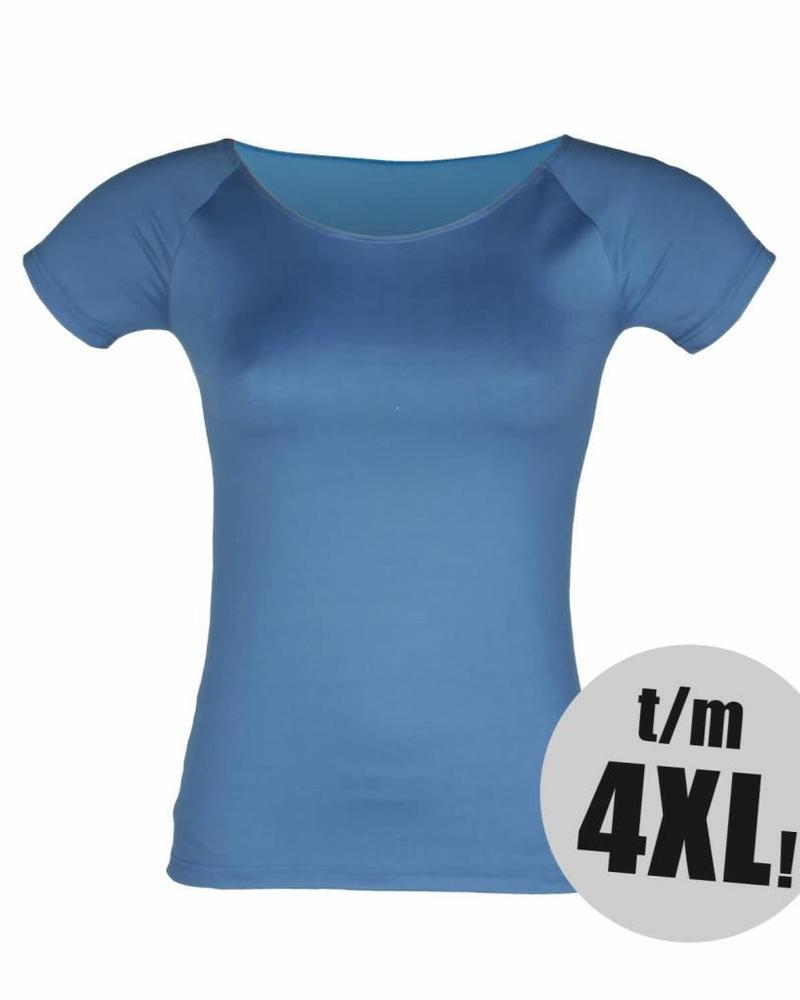 RJ Bodywear t-shirt pure color petrol