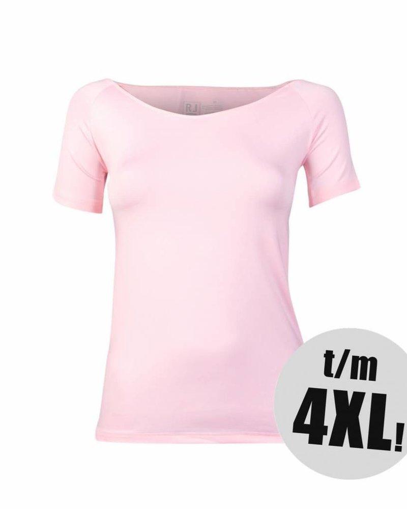RJ Bodywear t-shirt pure color rose