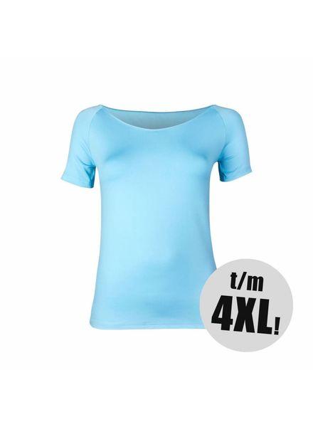 RJ Bodywear t-shirt pure color lichtblauw