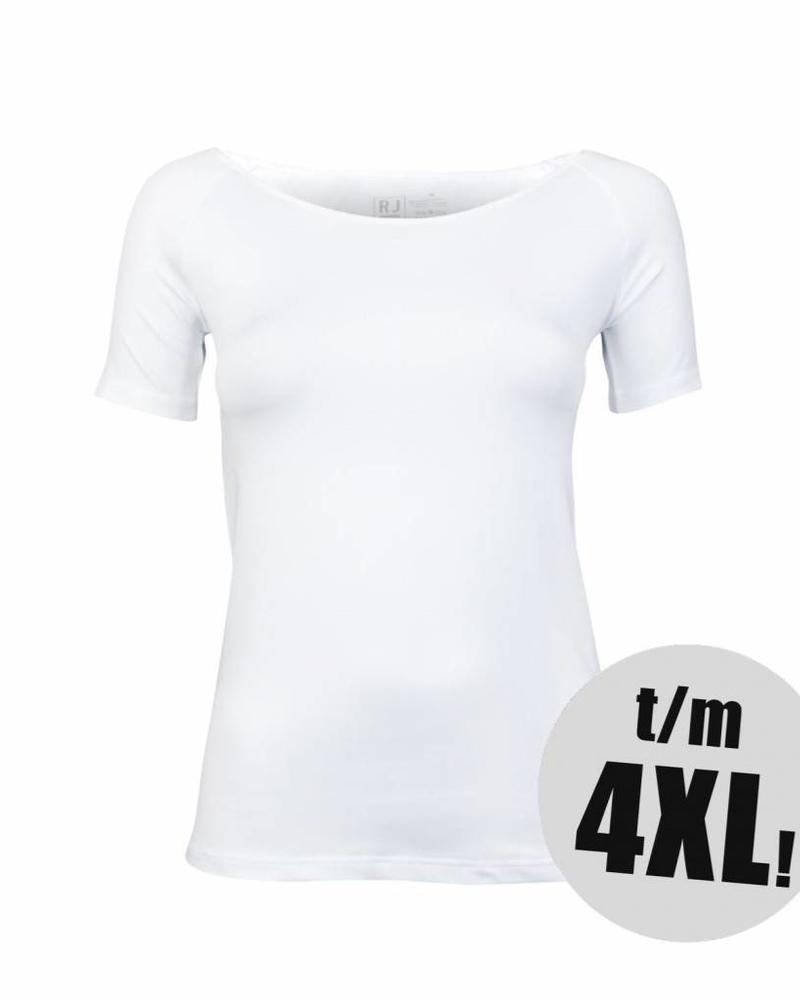 RJ Bodywear t-shirt pure color wit
