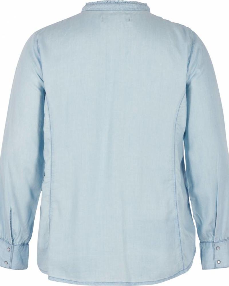 Zizzi tencel blouse met ruches