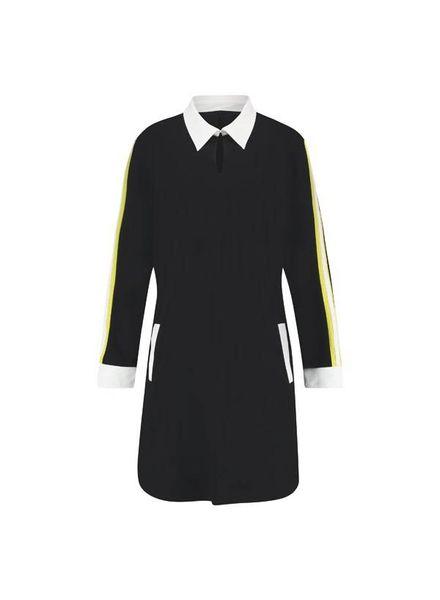 PlusBasics Shirt Dress Black10-D maat 52