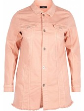 Zizzi denim jacket mellow rose