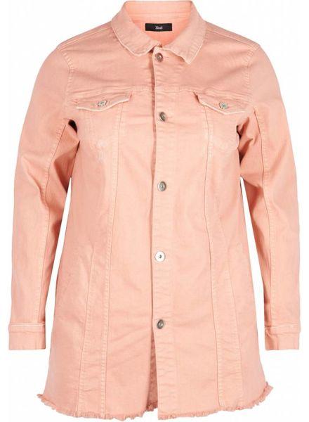 Zizzi denim jacket mellow rose