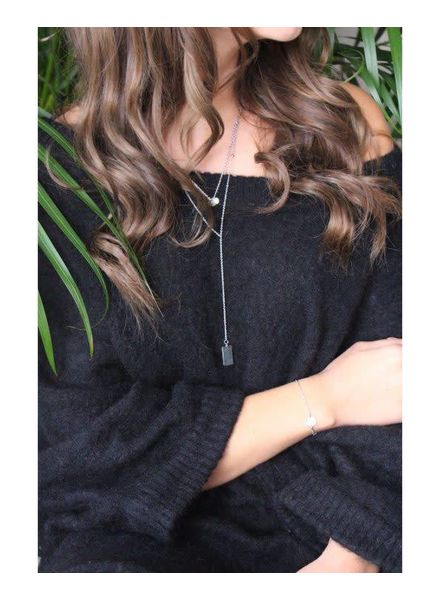 layer necklace staal
