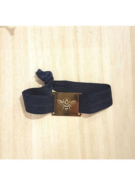 armband navy / bij goud