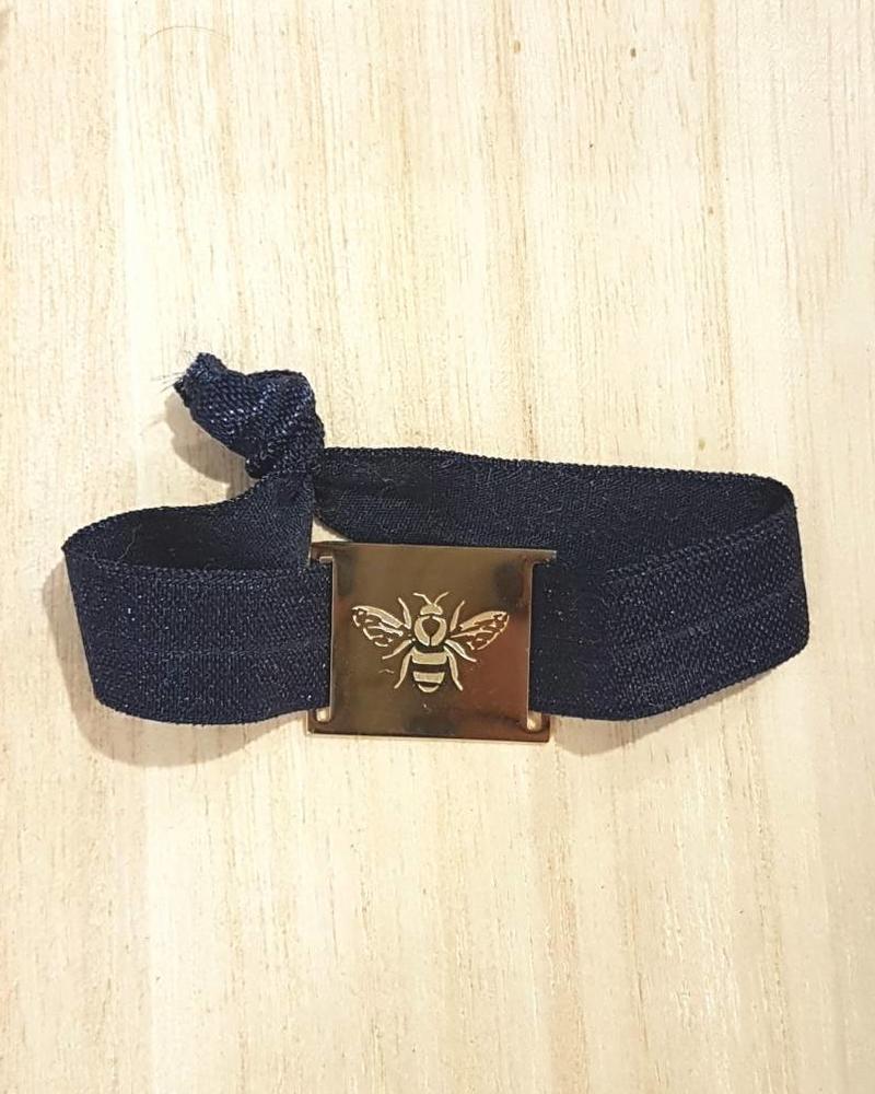 LIKELIKELIKE armband navy / bij goud