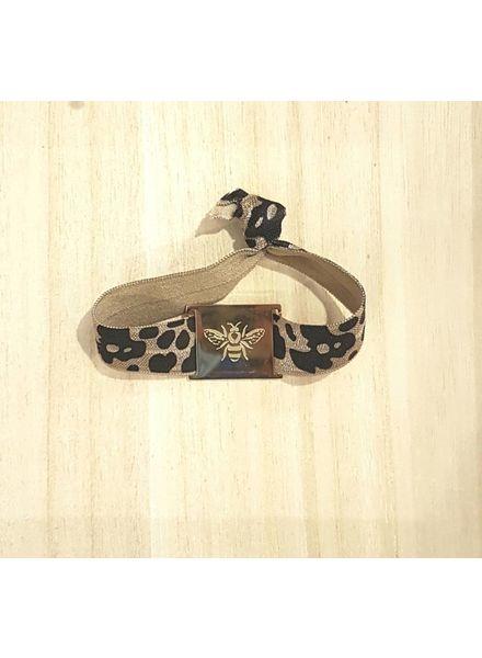 LIKELIKELIKE armband animal / bij goud