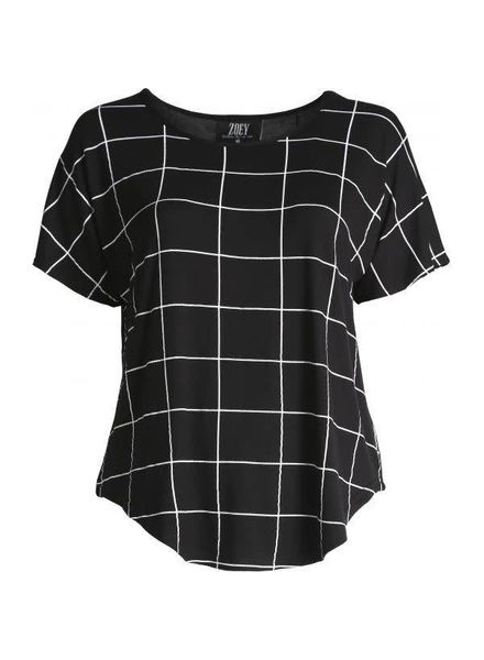 Zoey grid tshirt