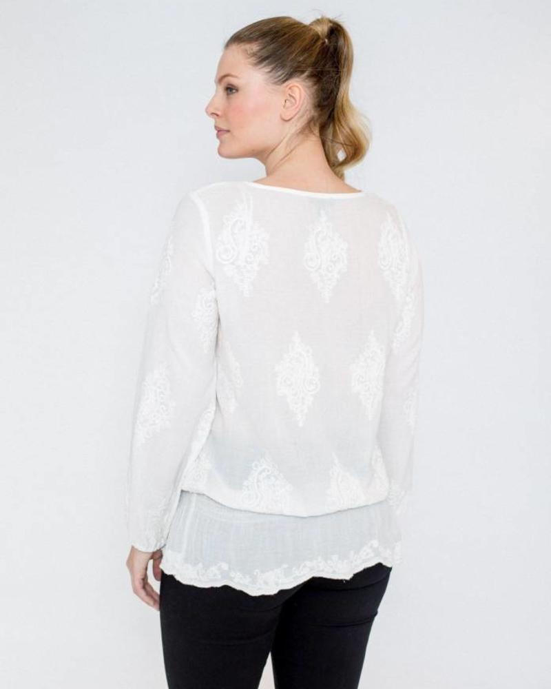 October blousende top