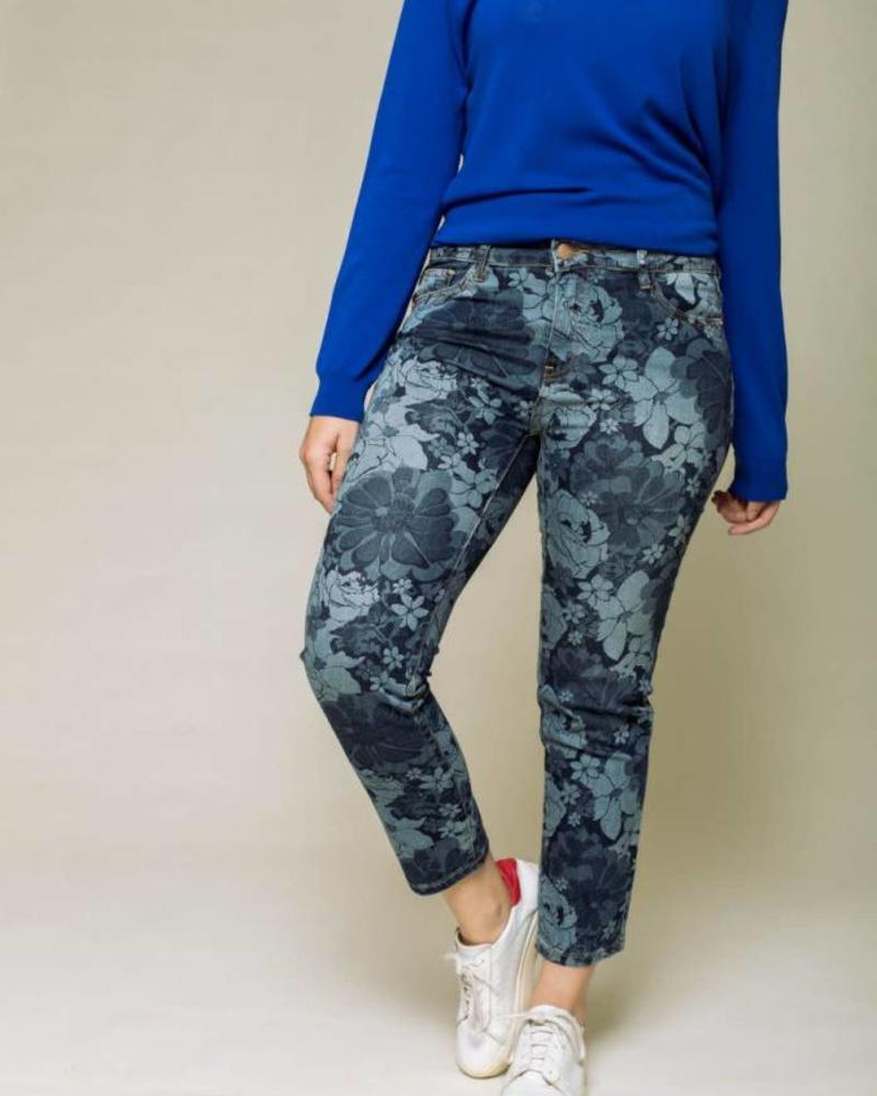 October jeans flowerprint