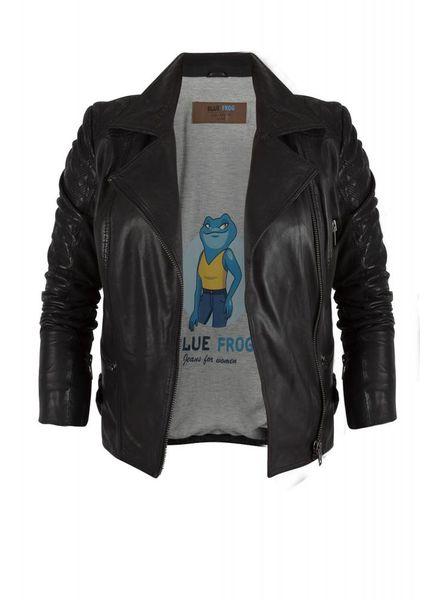 Blue Frog Jeans leather biker jacket bluefrogjeans 46