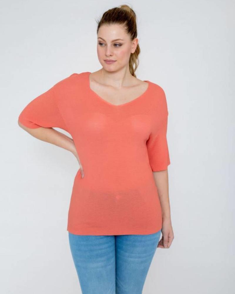 October knit orange