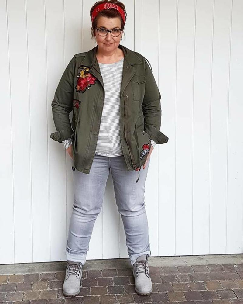 army patch embroiderie jacket October