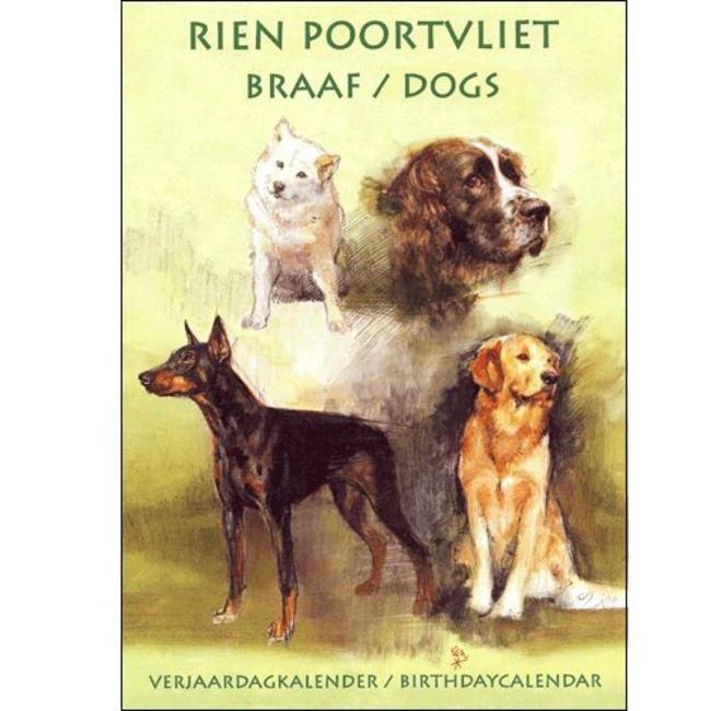 Comello Rien Poortvliet Braaf verjaardagskalender Geel