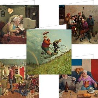Comello Set van 5 Marius van Dokkum Wenskaarten