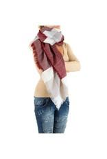 Sjaal Noor bordeaux rood