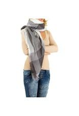 Sjaal Olivia wit / grijs