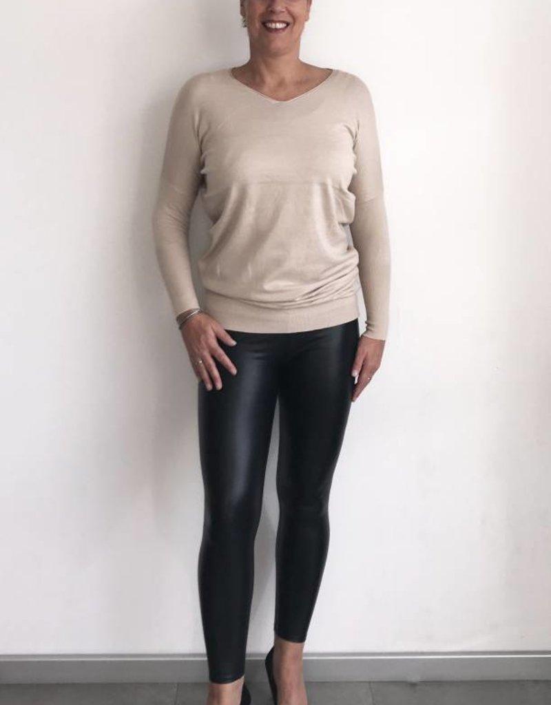 Zwarte leather look legging