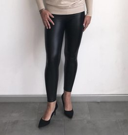 Zwarte leather look legging