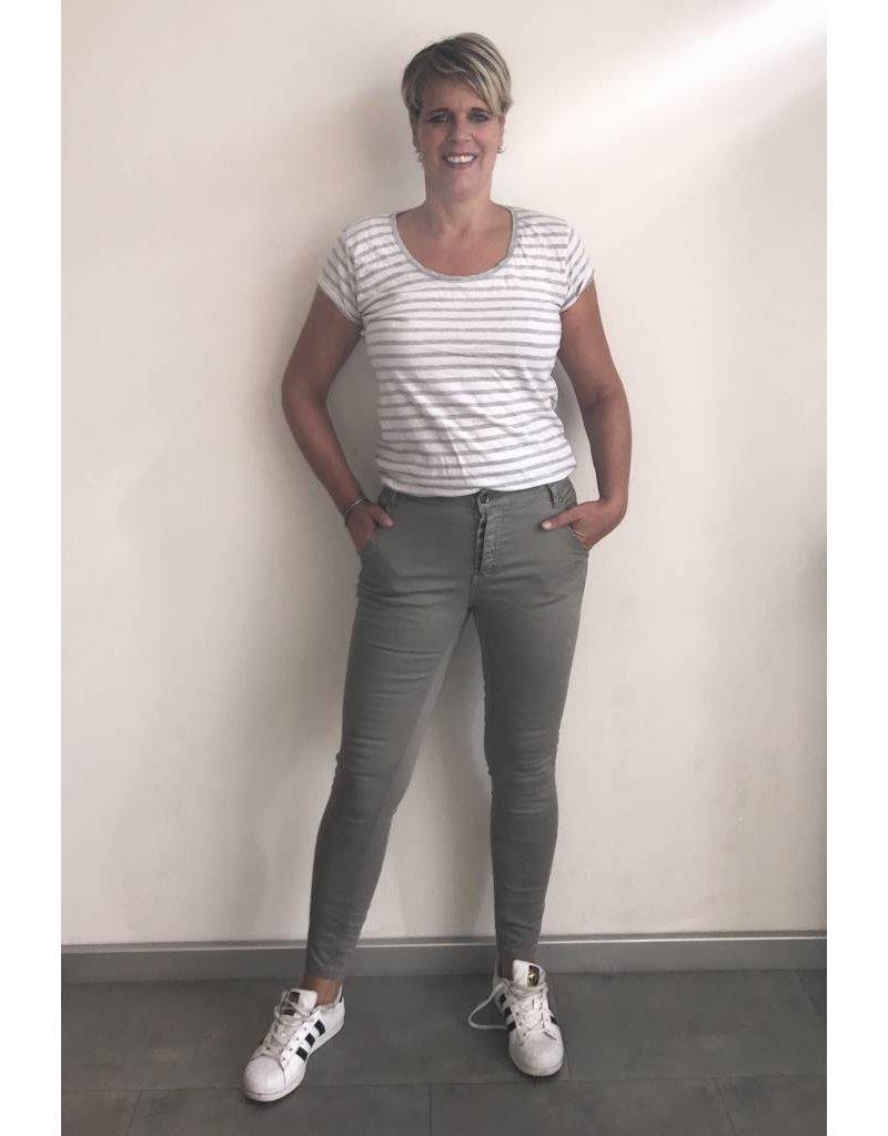 Jeans grijs met 5-knoopssluiting