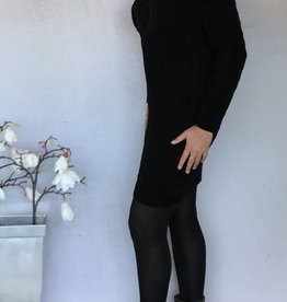 Jurk zwart met leuk patroon