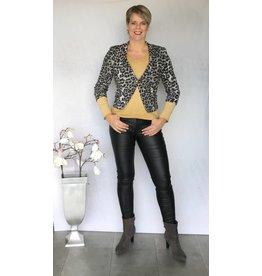 Zwarte coated jeans broek Goodies