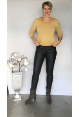 Antraciet coated jeans broek Goodies