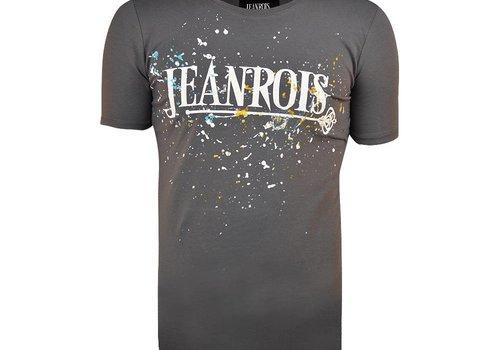 JEANROIS JEANROIS INK SPLATTERS T-SHIRT - GRIJS