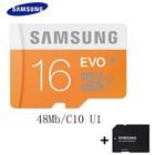 Samsung 100 Mb/s Micro Sd-kaart 16GB Geheugenkaart + Adapter