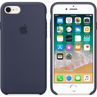 A-pple Apple siliconen  blauw voor Apple iPhone 7/8