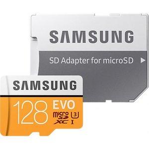 Samsung Evo 128 GB micro SD class 10 - met adapter R100MBs/ W90