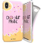 i-Paint soft case donut - roze - voor iPhone X