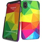 i-Paint cover rainbow - mix - voor iPhone X