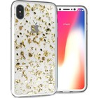 i-Paint cover Glitter - goud - for iPhone X