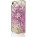 GUESS Glitter Party Case - roze - voor iPhone 7/8