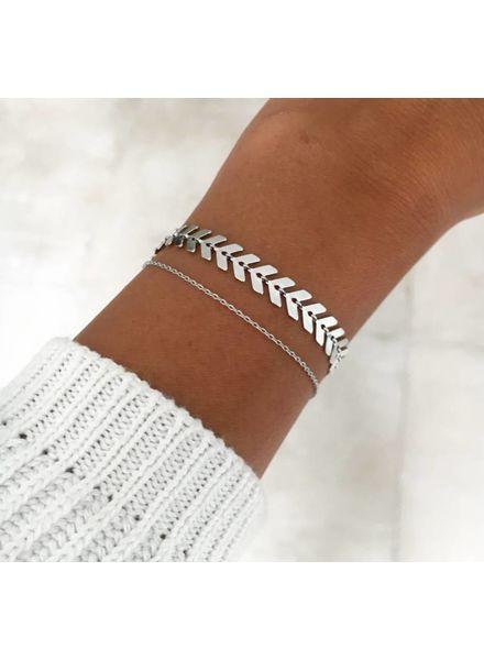 Fashion-Click Armband Double Fun Classy