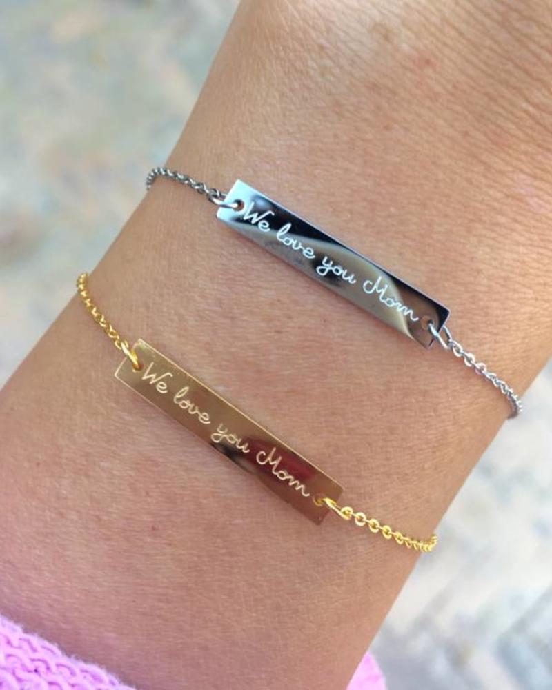 Armband We Love You Mom Fashion Click