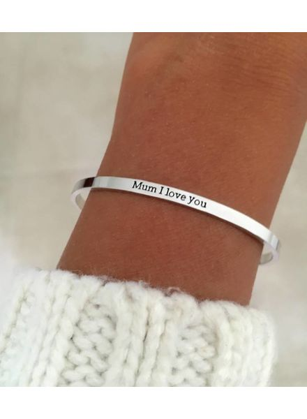 "Fashion-Click Armband ""Mum I Love You"""