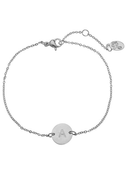 Fashion-Click Armband Your'e Own Letter Zilver