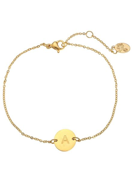 Fashion-Click Armband Your'e Own Letter Goud