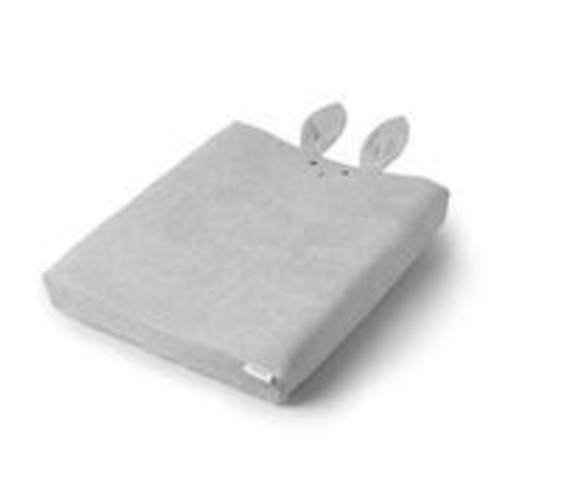 Aankleed kussenhoes konijnen oren grijs
