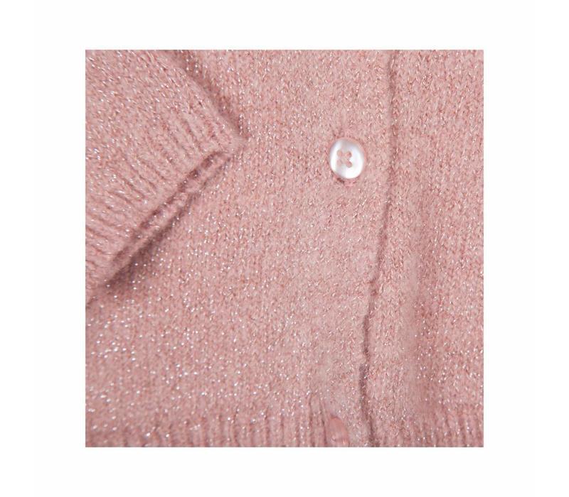 Rose glitter vestje