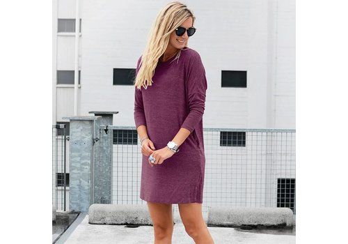 SWEATERDRESS RASPBERRY