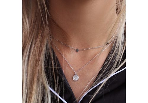 SMALL COIN NECKLACE / SILVER
