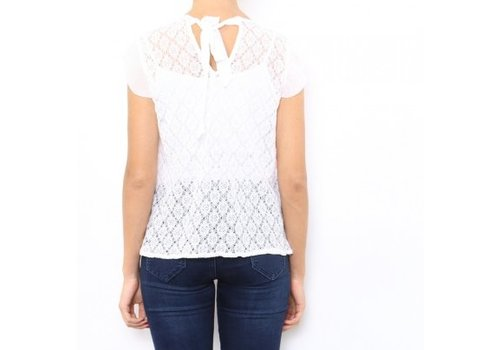 LACE FERAGNI BLOUSE - WHITE