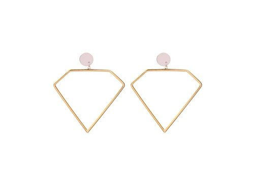 DIAMOND SHAPE EARRINGS - GOLD